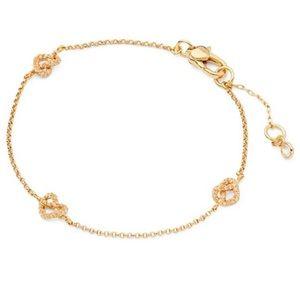 Kate Spade loves me knot metallic pave bracelet